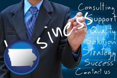iowa typical business services and concepts