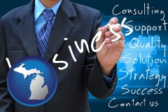 michigan typical business services and concepts