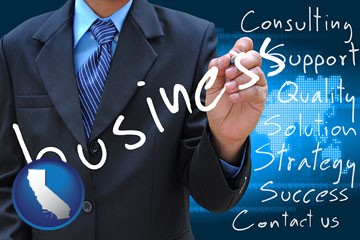 typical business services and concepts - with California icon