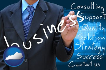 typical business services and concepts - with Kentucky icon