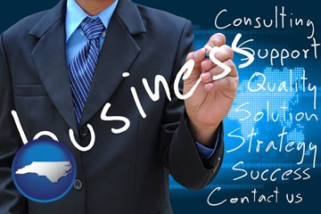 typical business services and concepts - with North Carolina icon