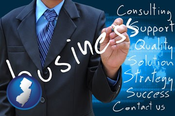 typical business services and concepts - with New Jersey icon