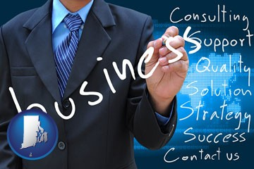 typical business services and concepts - with Rhode Island icon