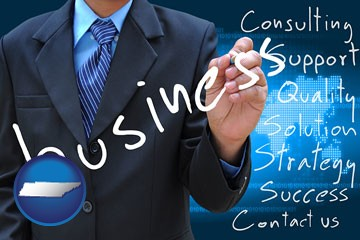 typical business services and concepts - with Tennessee icon