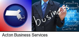 typical business services and concepts in Acton, MA