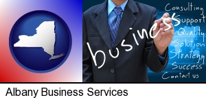 Albany, New York - typical business services and concepts