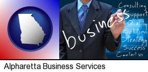 Alpharetta, Georgia - typical business services and concepts