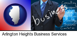 Arlington Heights, Illinois - typical business services and concepts