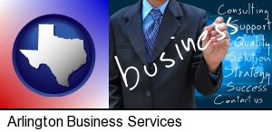 typical business services and concepts in Arlington, TX