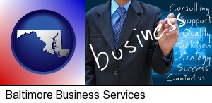 Baltimore, Maryland - typical business services and concepts