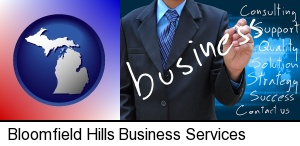 Bloomfield Hills, Michigan - typical business services and concepts