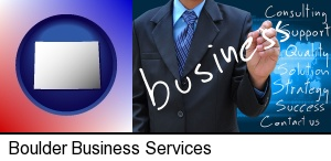 Boulder, Colorado - typical business services and concepts