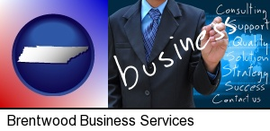 Brentwood, Tennessee - typical business services and concepts