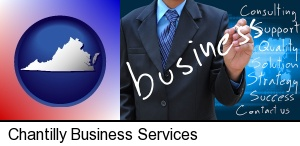 typical business services and concepts in Chantilly, VA