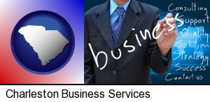 Charleston, South Carolina - typical business services and concepts