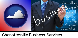 Charlottesville, Virginia - typical business services and concepts