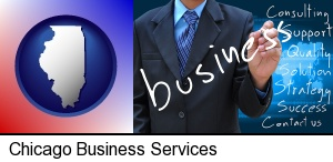 typical business services and concepts in Chicago, IL