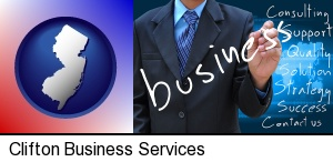 typical business services and concepts in Clifton, NJ