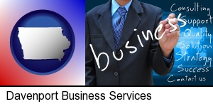 Davenport, Iowa - typical business services and concepts