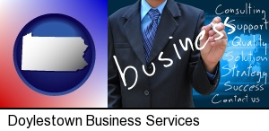 Doylestown, Pennsylvania - typical business services and concepts