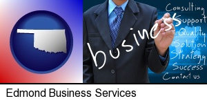 typical business services and concepts in Edmond, OK