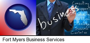 Fort Myers, Florida - typical business services and concepts