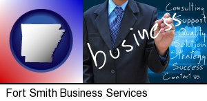 Fort Smith, Arkansas - typical business services and concepts