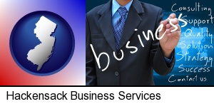 typical business services and concepts in Hackensack, NJ