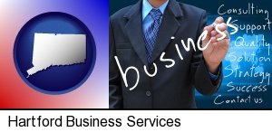 Hartford, Connecticut - typical business services and concepts