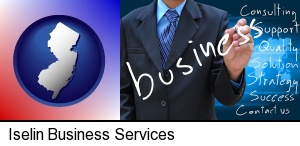 typical business services and concepts in Iselin, NJ