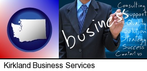 typical business services and concepts in Kirkland, WA