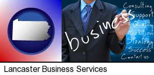 Lancaster, Pennsylvania - typical business services and concepts