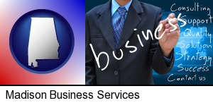 typical business services and concepts in Madison, AL