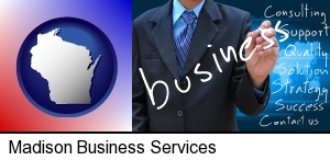 Madison, Wisconsin - typical business services and concepts