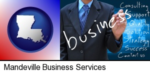 Mandeville, Louisiana - typical business services and concepts