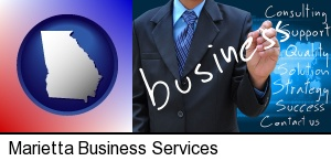 Marietta, Georgia - typical business services and concepts