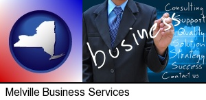Melville, New York - typical business services and concepts