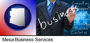 typical business services and concepts in Mesa, AZ