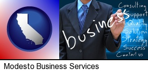 Modesto, California - typical business services and concepts