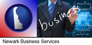 Newark, Delaware - typical business services and concepts