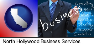 North Hollywood, California - typical business services and concepts