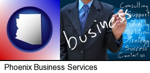 typical business services and concepts in Phoenix, AZ