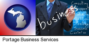 typical business services and concepts in Portage, MI