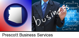 Prescott, Arizona - typical business services and concepts
