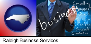 Raleigh, North Carolina - typical business services and concepts