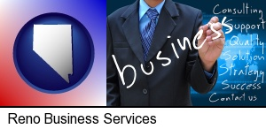 Reno, Nevada - typical business services and concepts