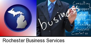 Rochester, Michigan - typical business services and concepts