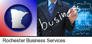 Rochester, Minnesota - typical business services and concepts