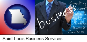 typical business services and concepts in Saint Louis, MO