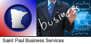 Saint Paul, Minnesota - typical business services and concepts